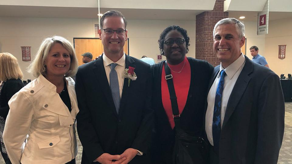 District leadership celebrated Jeffrey Davies as a candidate for 2019 Minnesota Teacher of the Year.