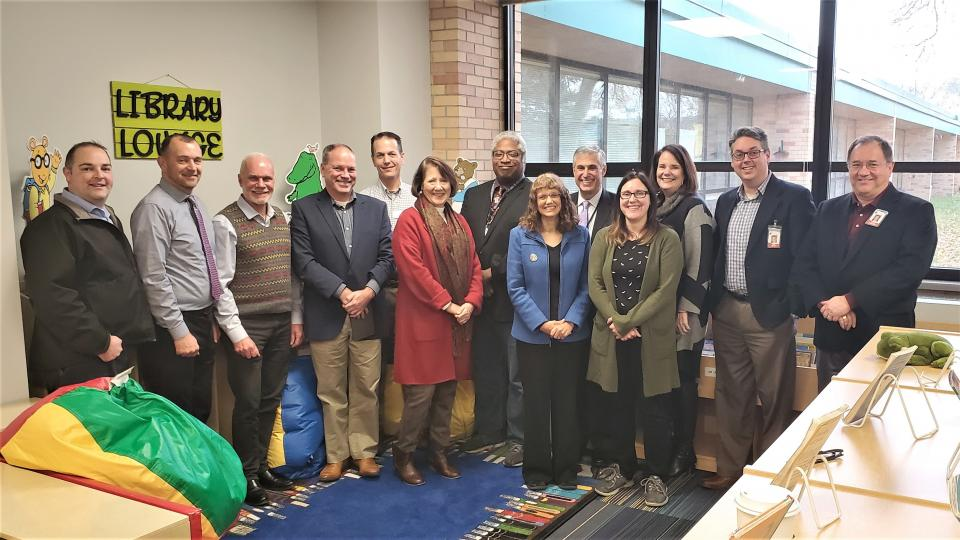 Local elected leaders visited Edgerton Elementary.
