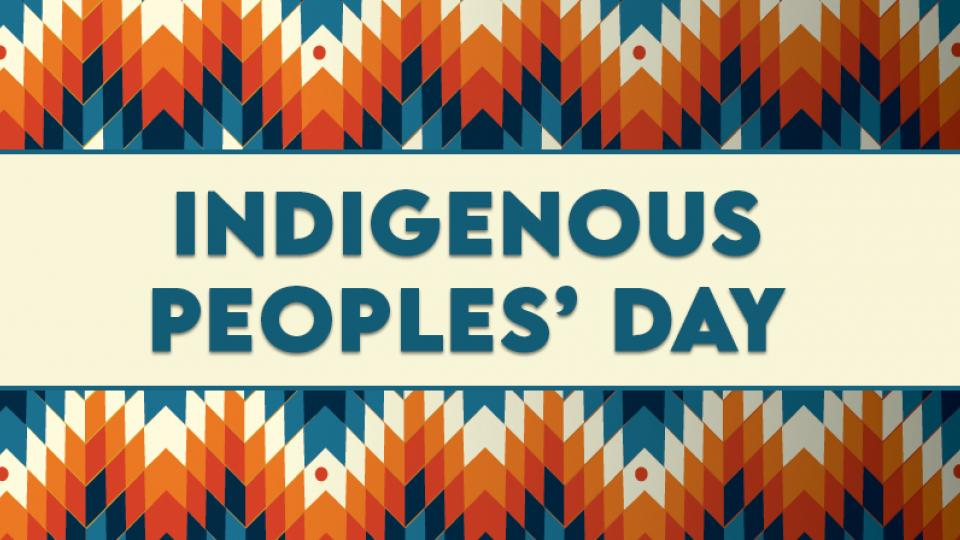 Indigenous Peoples' Day banner