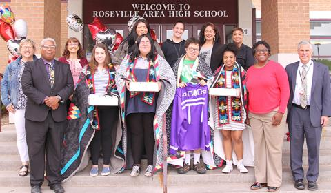 District and school leaders recognized our graduating American Indian seniors at an inaugural celebration of tradition, culture and accomplishment.