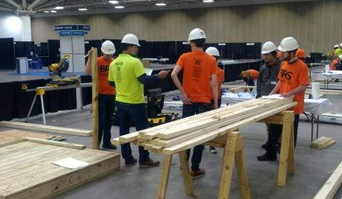 Students at the 2020 Builders and Remodelers Show