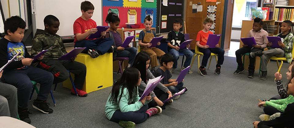 Students at Readers Theater